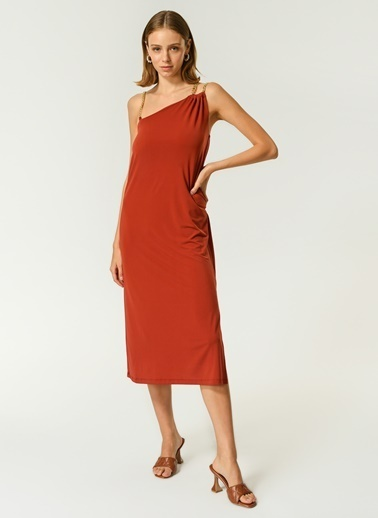 NGSTYLE Kadın Askılı  Elbise NGKSS21EL0053 Kiremit